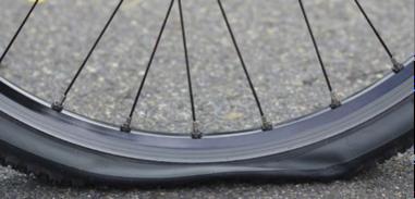 platte band fiets